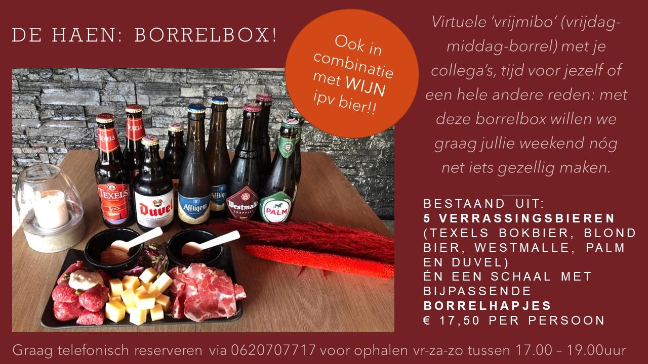 De Haen Borrelbox ook met wijn