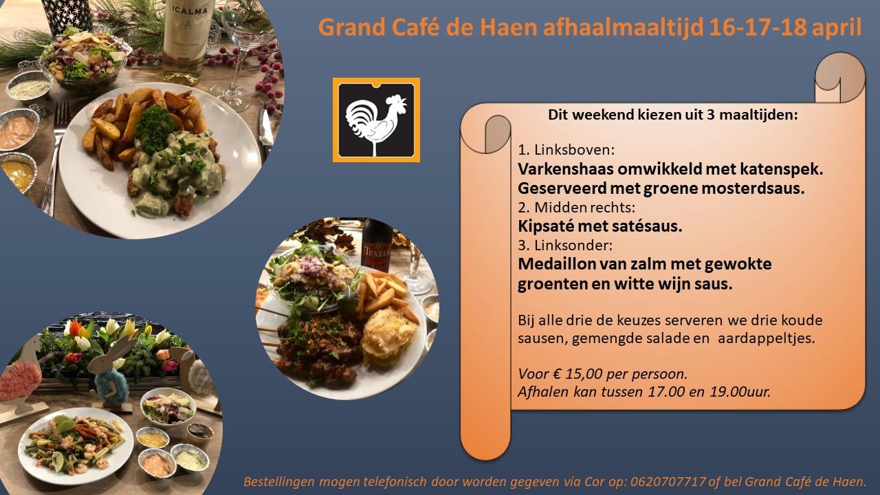 Dit weekend kiezen uit 3 maaltijden 16 17 18 april